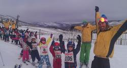 Glenshee Ski School class at the end of the slopes