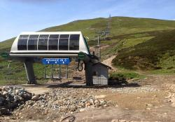 Cairnwell Chairlift in Summer